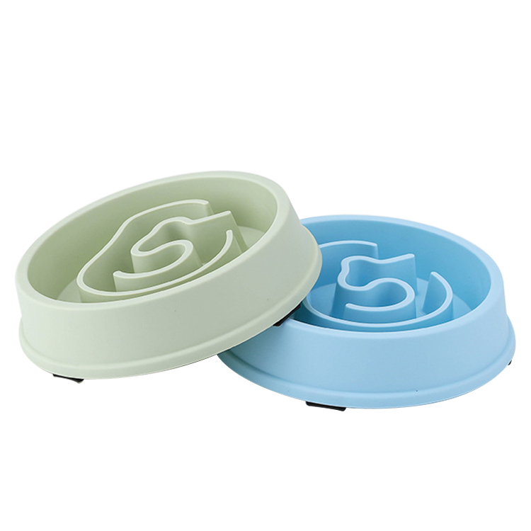 New Design Pet Dog Slow Feeder Plastic Bowl